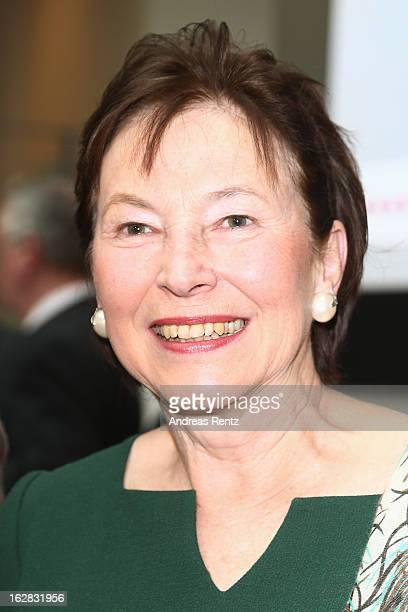 Eva Luise Koehler attends the Eva Luise Koehler Research Award 2013 for rare diseases at the German Telekom representive house on February 28 2013 in...