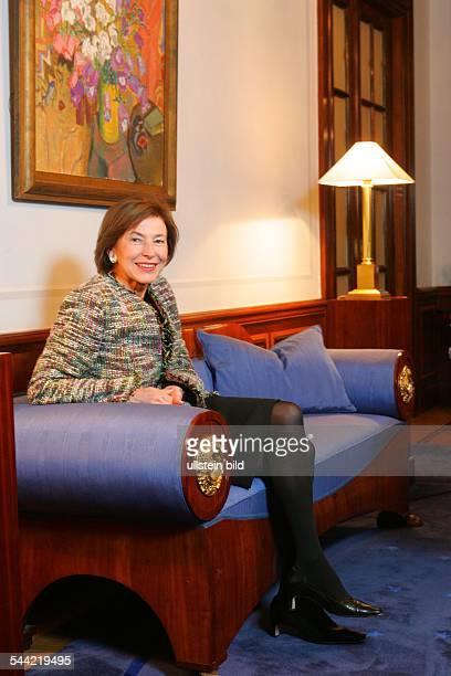 Eva Luise Koehler Ehefrau des Bundespräsidenten im Gästehaus des Auswärtigen Amtes der Bundesregierung in der Pacelliallee 14 16