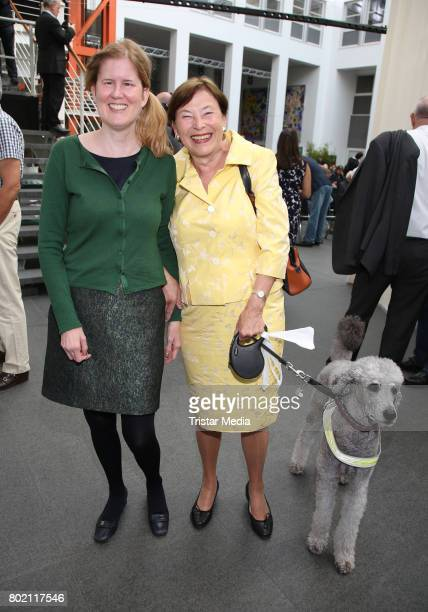 Eva Luise Koehler with her daughter Christina Koehler and her dog Giacomo attend the 36 HanseMerkur Award For Child Protection at Haus Wedells on...