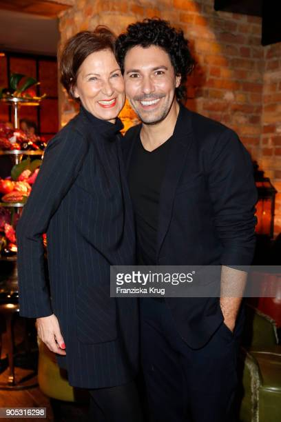 Eva Lutz and Boris Entrup during the Bunte New Faces Night at Grace Hotel Zoo on January 15 2018 in Berlin Germany