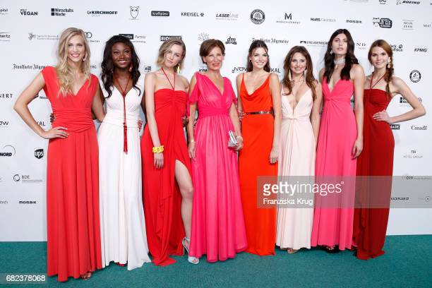 Eva Lutz and the GNTM Top 8 finalists during the GreenTec Awards at ewerk on May 12, 2017 in Berlin, Germany.