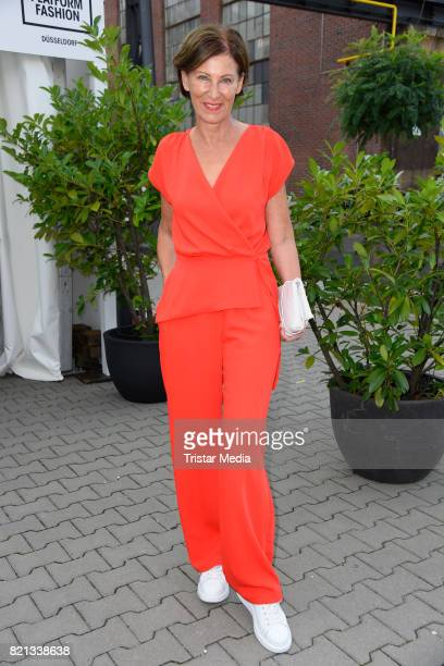 Eva Lutz attends the Thomas Rath show during Platform Fashion July 2017 at Areal Boehler on July 23 2017 in Duesseldorf Germany