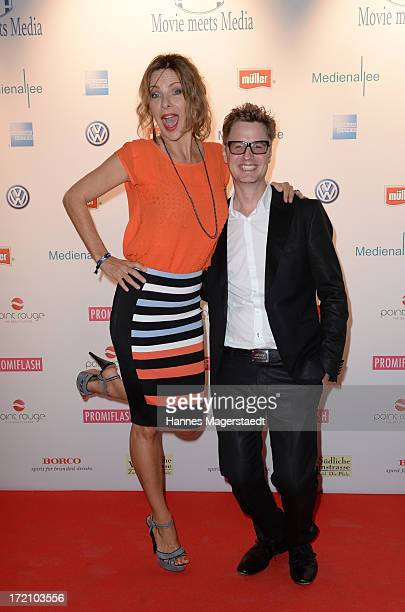 Eva Maehl and Florian Simbeck attend Movie Meets Media Party during the Munich Film Festival 2013 at P1 on July 1 2013 in Munich Germany