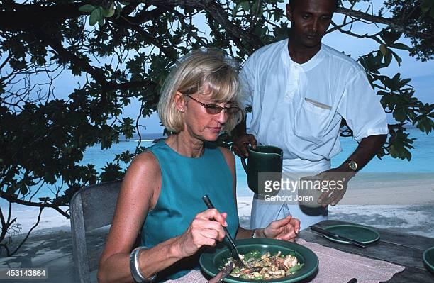 Eva Malmstrom Creative Director and cofounder of Six Senses a leading Spa and Resort company at Soneva Fushi in the North Baa Atoll region of the...