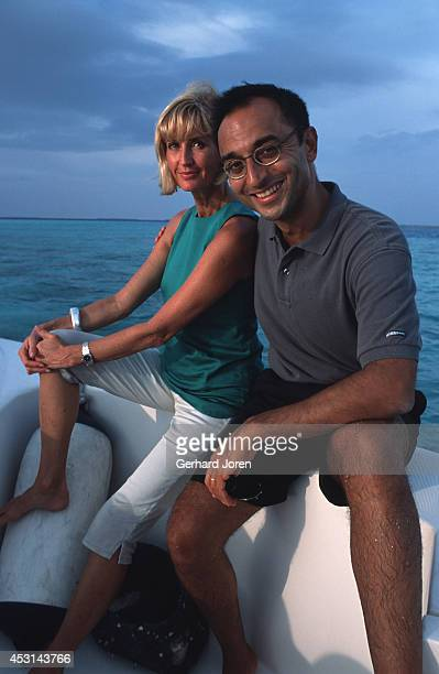 Eva Malmstrom Creative Director and her husband Sonu Shivdasani Chairman CEO of the leading spa and resort company Six Senses at Soneva Fushi in the...