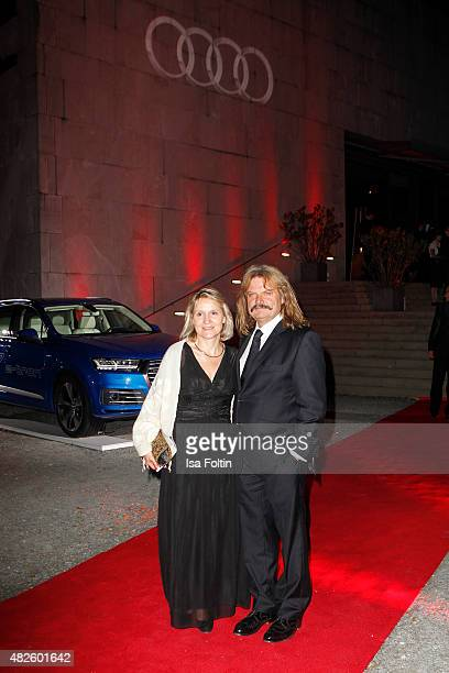 Eva Mandoki and Leslie Mandoki attend the Audi Night 2015 on July 31 2015 in Salzburg Austria