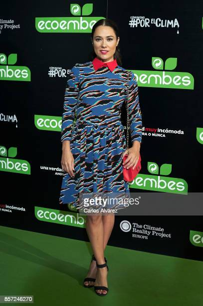 Eva Marciel attends 'An Inconvenient Sequel Truth to Power' premiere at the Callao cinema on October 3 2017 in Madrid Spain