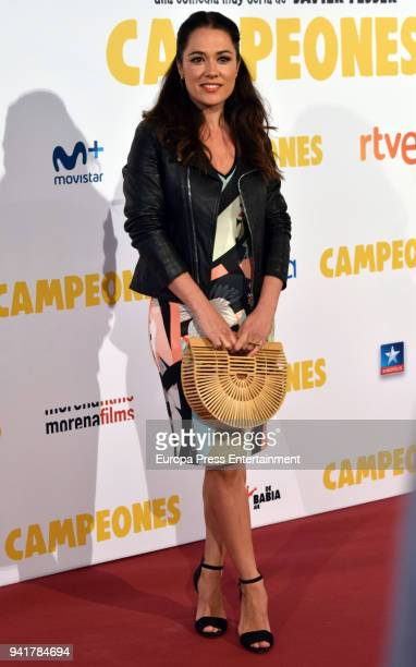 Eva Marciel attends 'Campeones' premiere at Kinepolis cinema on April 3 2018 in Madrid Spain