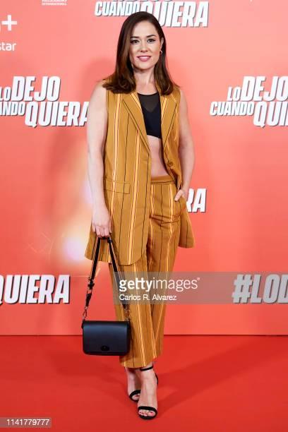"""Eva Marciel attends """"Lo Dejo Cuando Quiera"""" premiere at Capitol Cinema on April 10, 2019 in Madrid, Spain."""