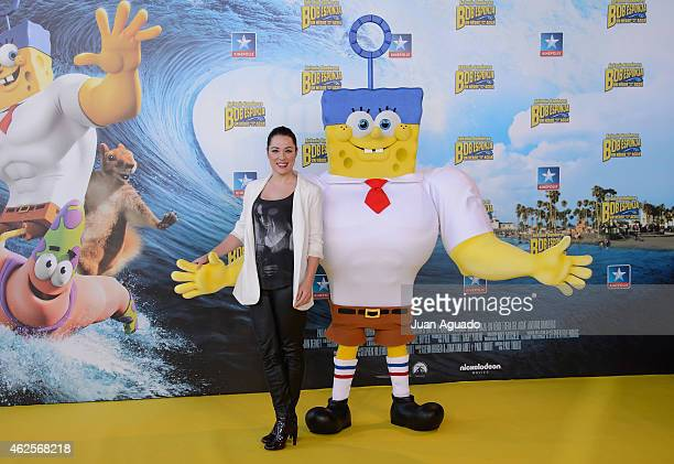 Eva Marciel attends the 'Bob Esponja' Premiere at Kinepolis Cinema on January 31 2015 in Madrid Spain
