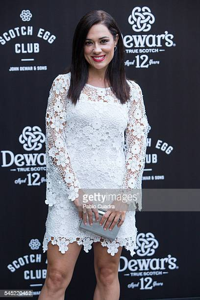 Eva Marciel attends the Dewar's Scotch Egg Club opening party at the Real Fabrica de Tapices on July 6 2016 in Madrid Spain
