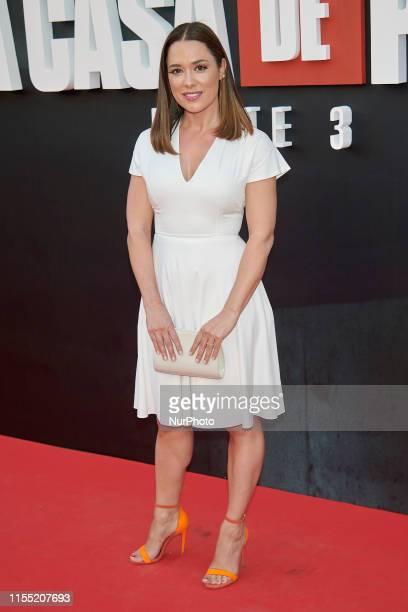 Eva Marciel attends the 'La Casa de Papel' 3rd season premiere at Callao Cinema in Madrid Spain on Jul 11 2019