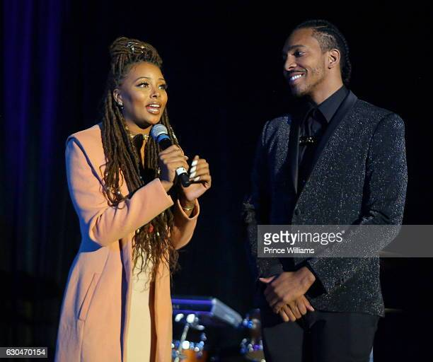 Eva Marcille and Clay West At the 9th annual Celeration 4 A Cause at King Plow Arts Center on December 22 2016 in Atlanta Georgia