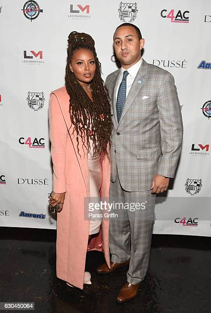 Eva Marcille and Michael Sterling attend 9th Annual Celebration 4 A Cause Fashion Show at King Plow Arts Center on December 22 2016 in Atlanta Georgia