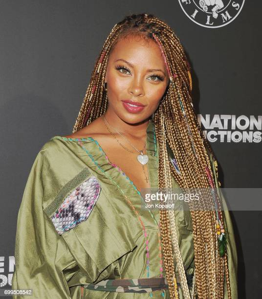 Eva Marcille arrives at the Los Angeles Premiere Of Can't Stop Won't Stop at Writers Guild of America West on June 21 2017 in Los Angeles California