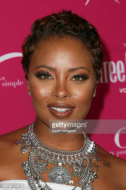 Eva Marcille arrives at the OK Magazine's So Sexy LA at the Skybar at Mondrian on May 18 2016 in West Hollywood California