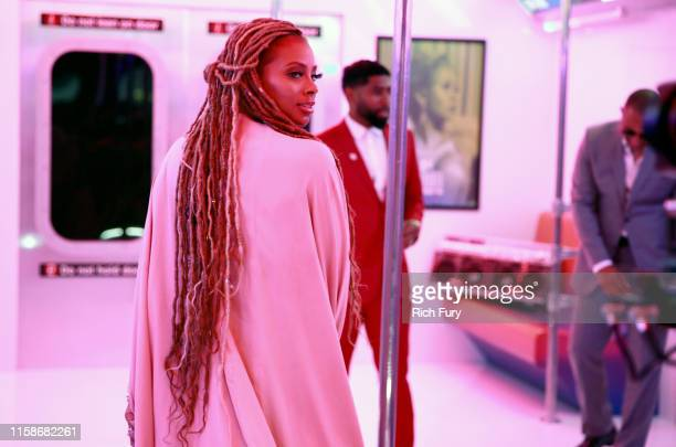 Eva Marcille attends the InstaCarpet during the BET Awards 2019 at Microsoft Theater on June 23 2019 in Los Angeles California