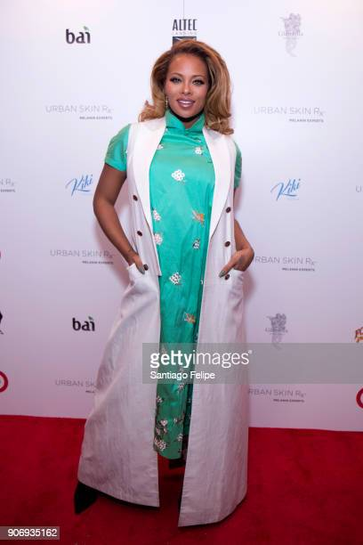 Eva Marcille attends the launch of Urban Skin RX on January 18 2018 in New York City