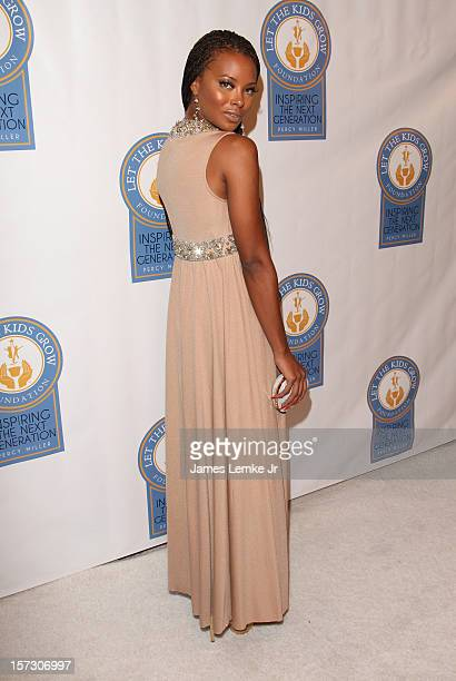 Eva Marcille attends the Let The Kids Grow 2012 Inaugral Holiday Gala held at the Beverly Wilshire Four Seasons Hotel on December 1 2012 in Beverly...