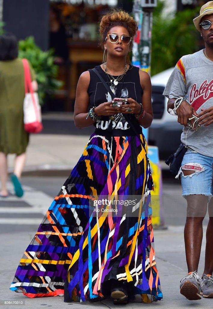 Eva Marcille is seen in Soho on August 4, 2017 in New York City.