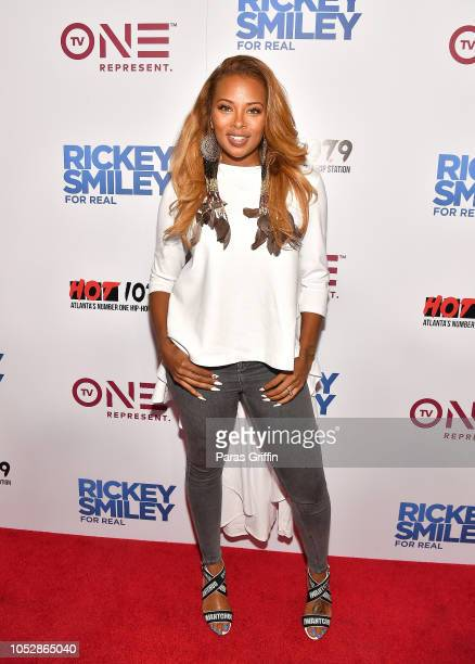 Eva Marcille Sterling attends Rickey Smiley For Real Season 5 Premiere screening at Regal Atlantic Station on October 23 2018 in Atlanta Georgia