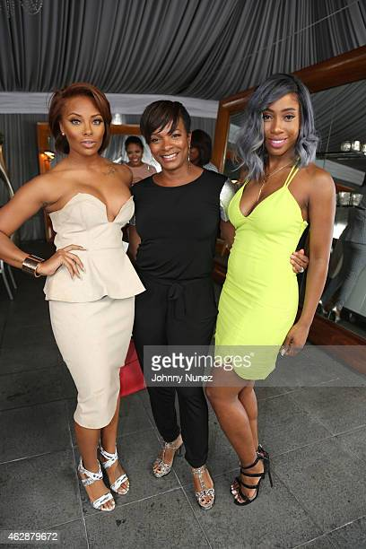 Eva Marcille Vanessa Bell Calloway and Sevyn Streeter attend MILF Celebration Of Entertainment Mothers on February 6 2015 in Beverly Hills California