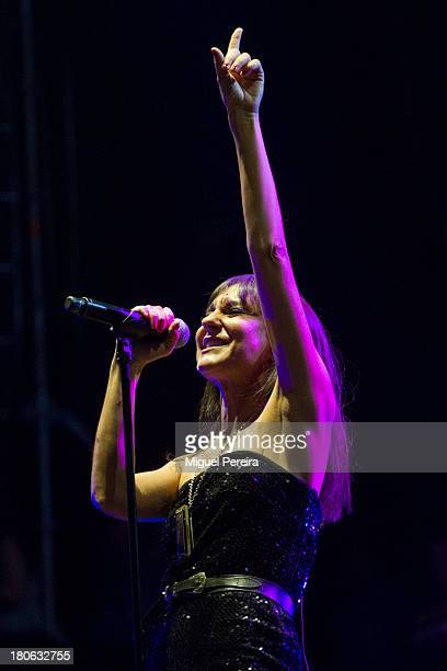 Eva Maria Amaral of Amaral performs on stage at Dcode music festival on September 14 2013 in Madrid Spain