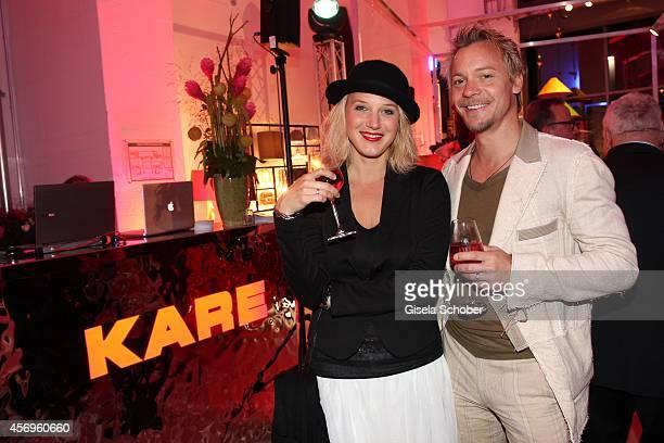 Eva Maria Grein von Friedl and Christoph von Friedl attend the grand opening of KARE Kraftwerk on October 9, 2014 in Munich, Germany.