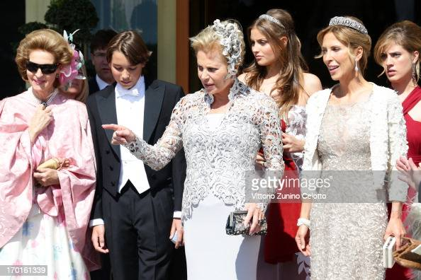 Grand Jour Mother Of The Bride Outfits And: Eva Maria O'Neill Departs The Grand Hotel To Attend The