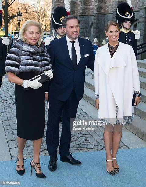 Eva Maria O'Neill Princess Madeleine of Sweden and Christopher O'Neill arrive to the Nordic Museum to attend a concert of the Royal Swedish Opera and...