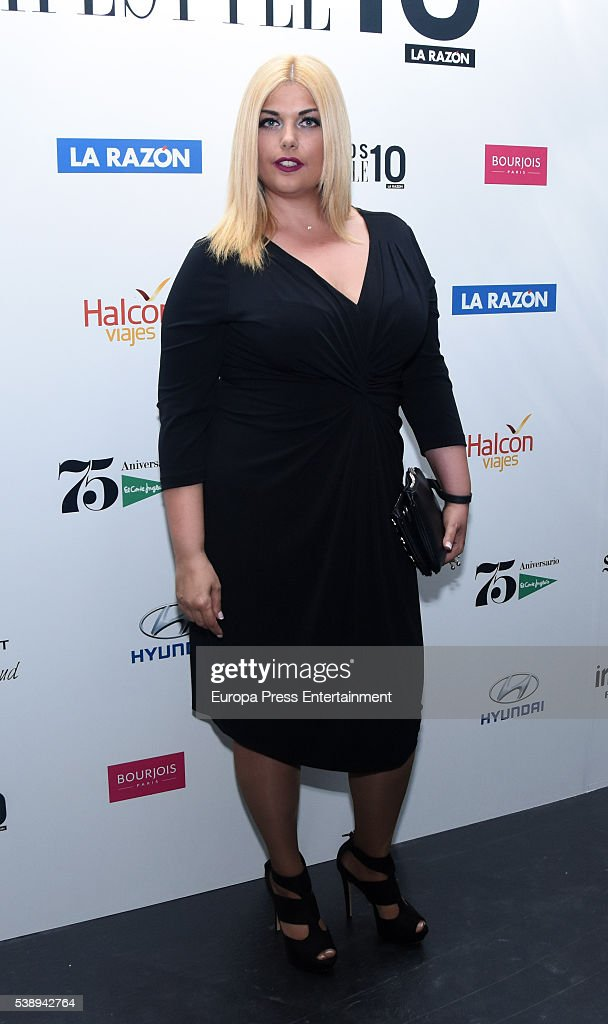 Eva Maria Perez attends the 'Lifestyle awards' photocall at Barcelo theatre on June 8, 2016 in Madrid, Spain.