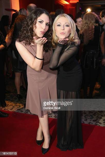 Eva Maria Reichert and Anna Ewelina attend the 'Los Banditos Goes Wild' party at the Adlon Hotel during the 63rd Berlinale International Film...