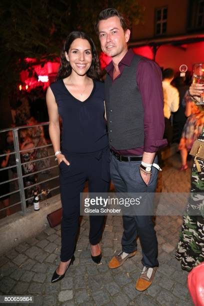 Eva Maria Reichert and Dominik Hauschild during the 'Audi Director's cut' Party during the Munich film festival at Praterinsel on June 24 2017 in...