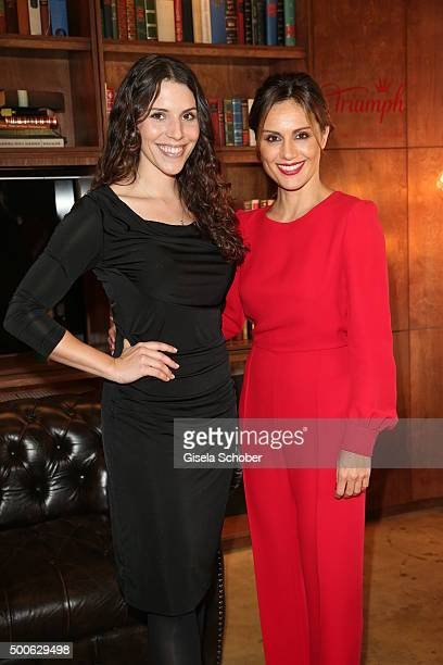 Eva Maria Reichert and Nazan Eckes during the Triumph Inspires Lunch on November 18, 2015 in Munich, Germany.