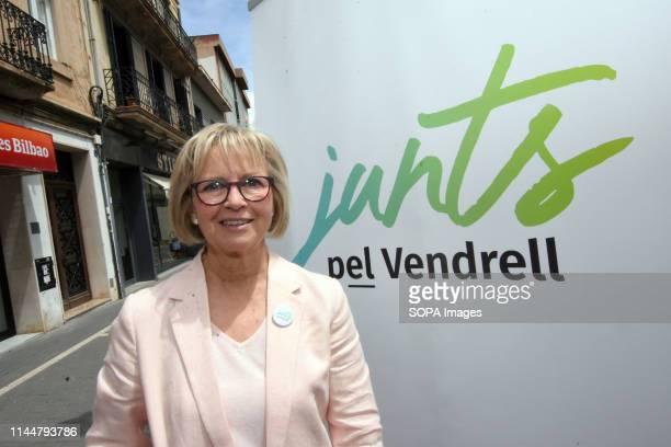 EL VENDRELL TARRAGONA SPAIN Eva Maria Serramia candidate for mayor of the city of El Vendrell from the political group Junts pel Vendrell