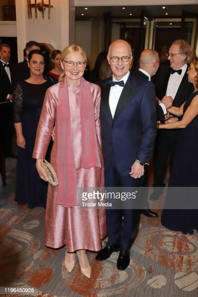 Eva Maria Tschentscher and her husband Peter Tschentscher during the Presseball Hamburg at Hotel Atlantic on January 25, 2020 in Hamburg, Germany.