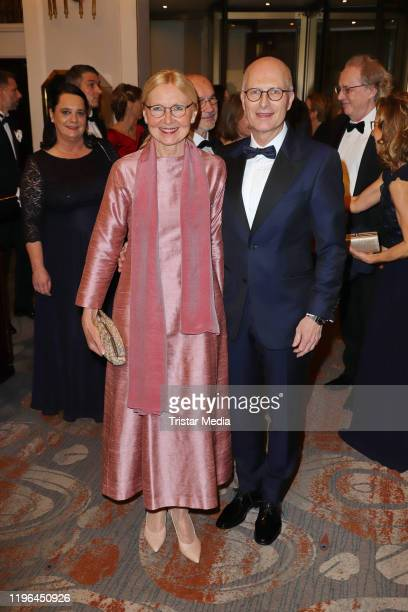 Eva Maria Tschentscher and her husband Peter Tschentscher during the Presseball Hamburg at Hotel Atlantic on January 25 2020 in Hamburg Germany