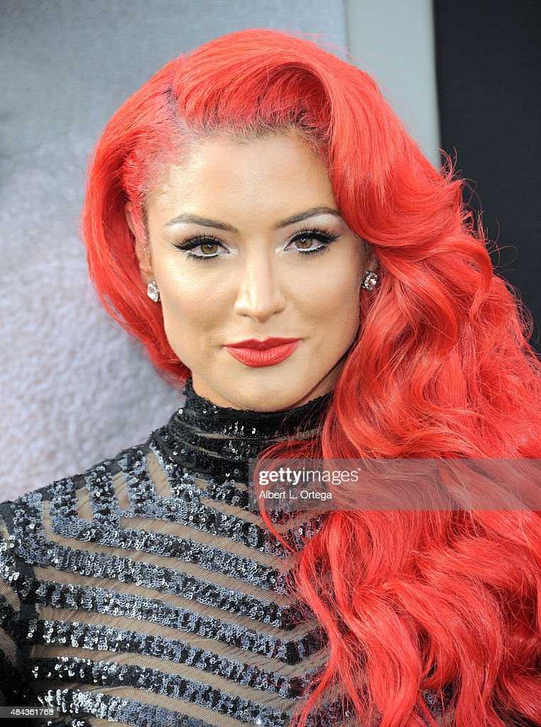 Eva Marie arrives for the Premiere Of Warner Bros. Pictures' 'San Andreas' held at TCL Chinese Theatre on May 26, 2015 in Hollywood, California.