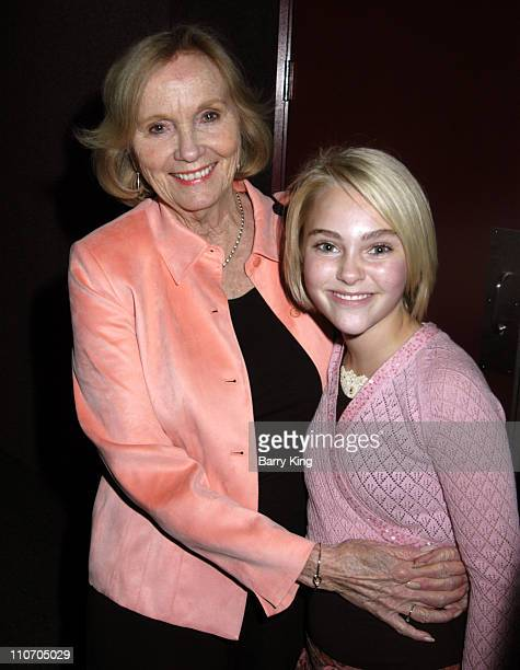 Eva Marie Saint and AnnaSophia Robb during The Actors Studio Play Opening of 'Fences' Directed by Jeffrey Hayden April 21 2006 at The Actors Studio...