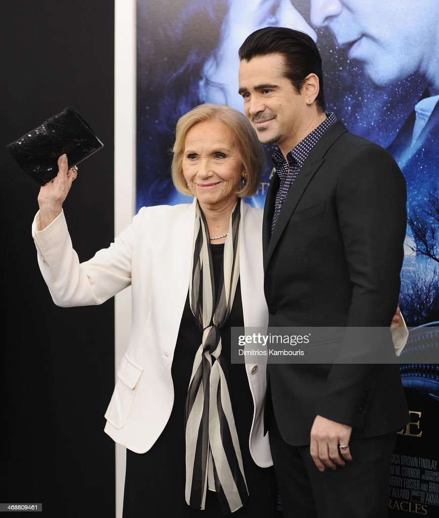 Eva Marie Saint and Colin Farrell attend the 'Winter's Tale' world premiere at Ziegfeld Theater on February 11, 2014 in New York City.