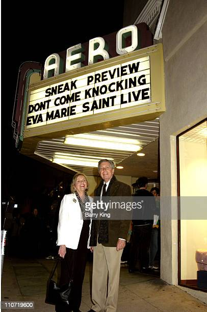 Eva Marie Saint and Jeffrey Hayden during American Cinematheque Tribute to Eva Marie Saint and Dont Come Knocking Screening at Aero Theatre in Santa...