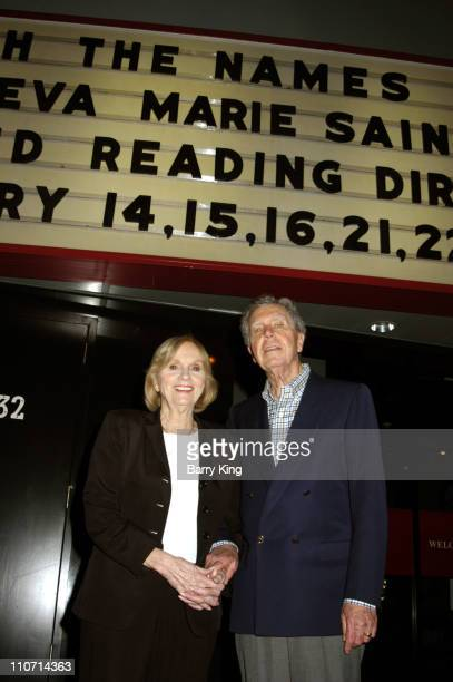 Eva Marie Saint and Jeffrey Hayden during The Actor's Studio Present Touch the Names Reading Directed by Jeffrey Hayden at The Sunset Millennium in...