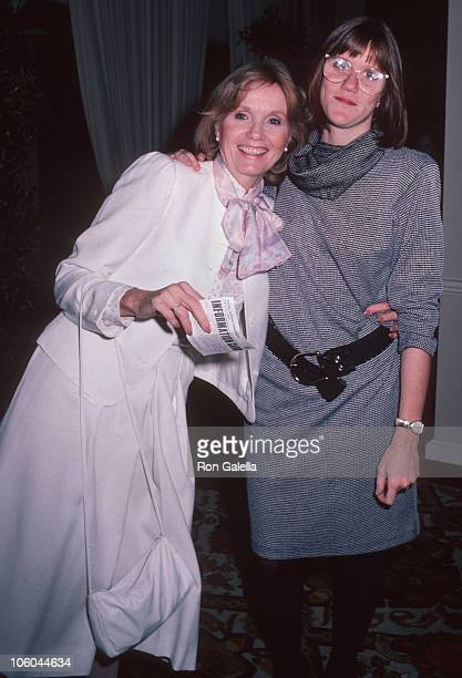 Eva Marie Saint and Laurette Hayden during Celebrity Mother Daughter Fashion Show Mars 28 1985 at Beverly Hilton Hotel in Beverly Hills California...