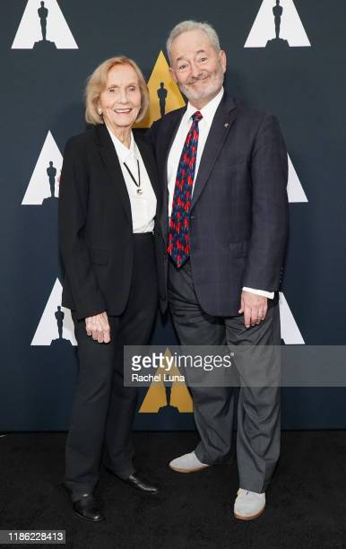 Eva Marie Saint and Peter Samuelson attend the Academy Nicholl Fellowships Screenwriting Awards at AMPAS Samuel Goldwyn Theater on November 07, 2019...
