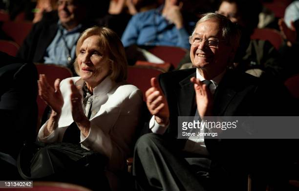 Eva Marie Saint and Roger Corman attend the Academy of Art University 5th Annual Epidemic Film Festival at Golden Gate Theatre on May 6 2011 in San...