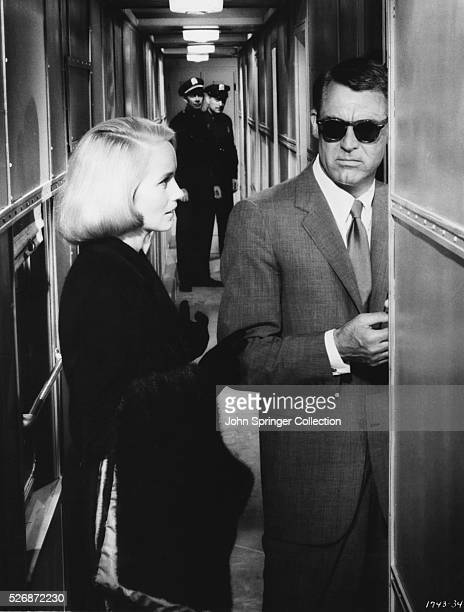 Eva Marie Saint as Eve Kendall and Cary Grant as Roger Thornhill in the 1959 film North by Northwest