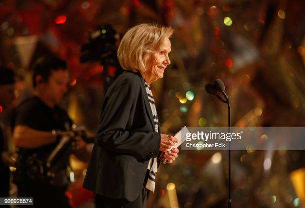Eva Marie Saint on stage during rehersals for the 90th Oscars at The Dolby Theatre on March 3 2018 in Hollywood California