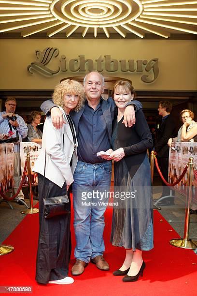 Eva Martens Bernd Boehlich and Angelica Domroese attend the premiere of 'Bis Zum Horizont Dann Links' at Lichtburg on July 5 2012 in Essen Germany