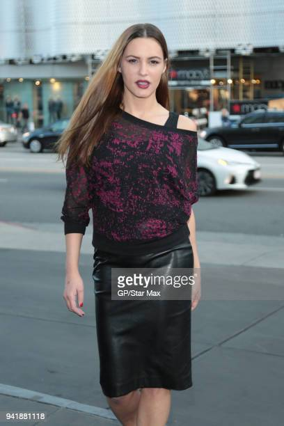 Eva Mauro is seen on April 3 2018 in Los Angeles CA