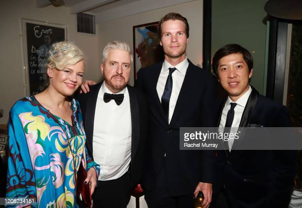 Eva Maywald Anthony McCarten Mark Bauch and Dan Lin attends the 2020 Netflix Oscar After Party at San Vicente Bugalows on February 09 2020 in West...